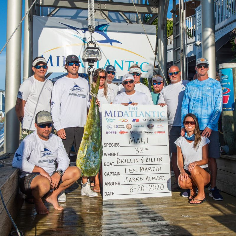 """The """"Drillin & Billin"""" weighed in a 32lb Dolphin for"""