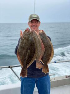 Nice day today….Limits of seabass, and flounders up to 4 (Nice day today….Limits of seabass, and flounders up to 4 3/4lb.  Sold out tom…)