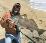 On the board! Getting in on the epic Black Drum (On the board! Getting in on the epic Black Drum action in the surf with a 30 po…)