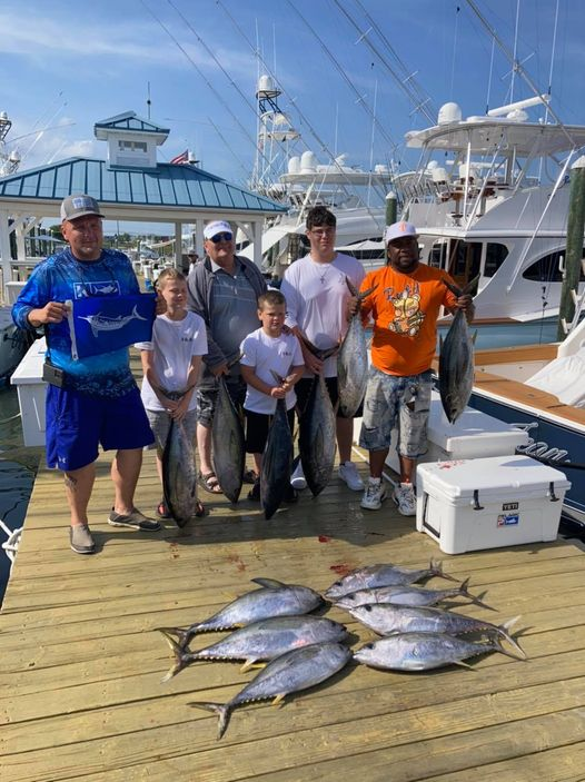 Awesome day offshore! Caught 13 yellowfin and our 1st white