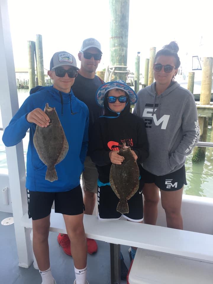 Gorgeous day to be on the water. #bayfishingoc #flounderfishing #familyoc
