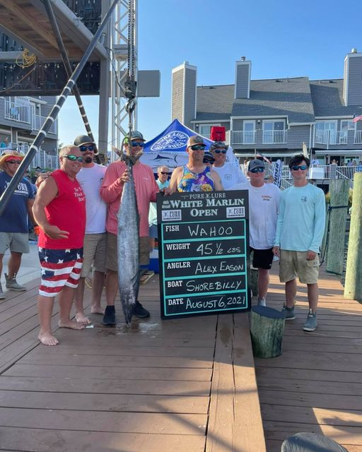 2nd Place Wahoo on the Shore Billy This fish is