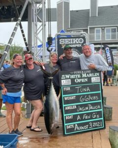 3rd place tuna in at 66 1/2 lbs!!! 1st time (3rd place tuna in at 66 1/2 lbs!!!   1st time this boat has entered the WMO and…)
