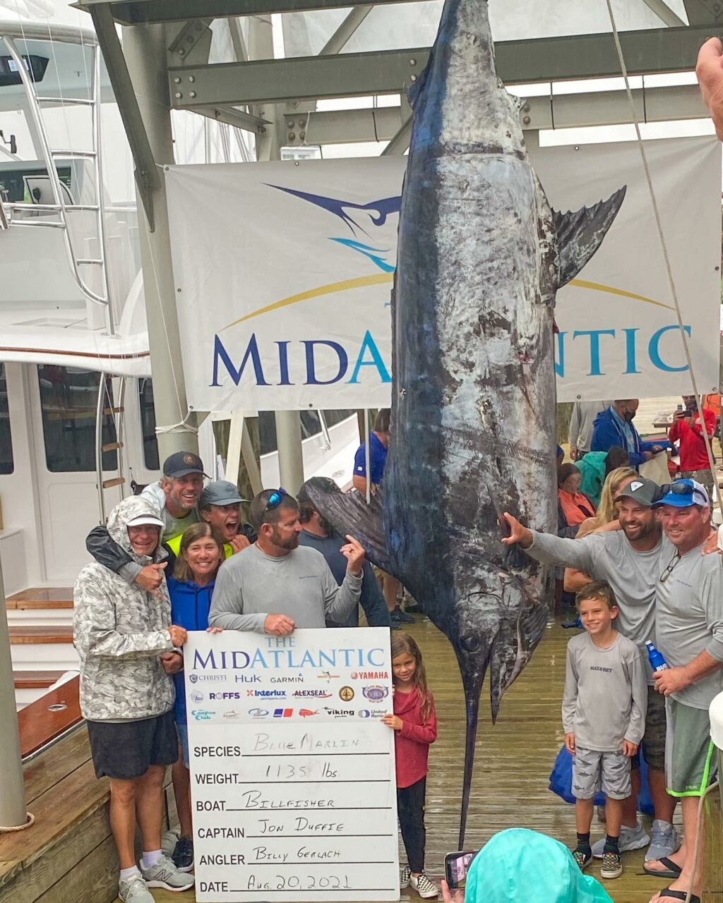 Potential new state record Blue Marlin caught today! #ExploreOCMD @