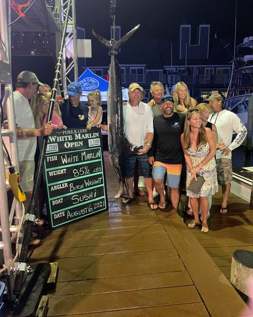 The last White Marlin weighed is now the FIRST place