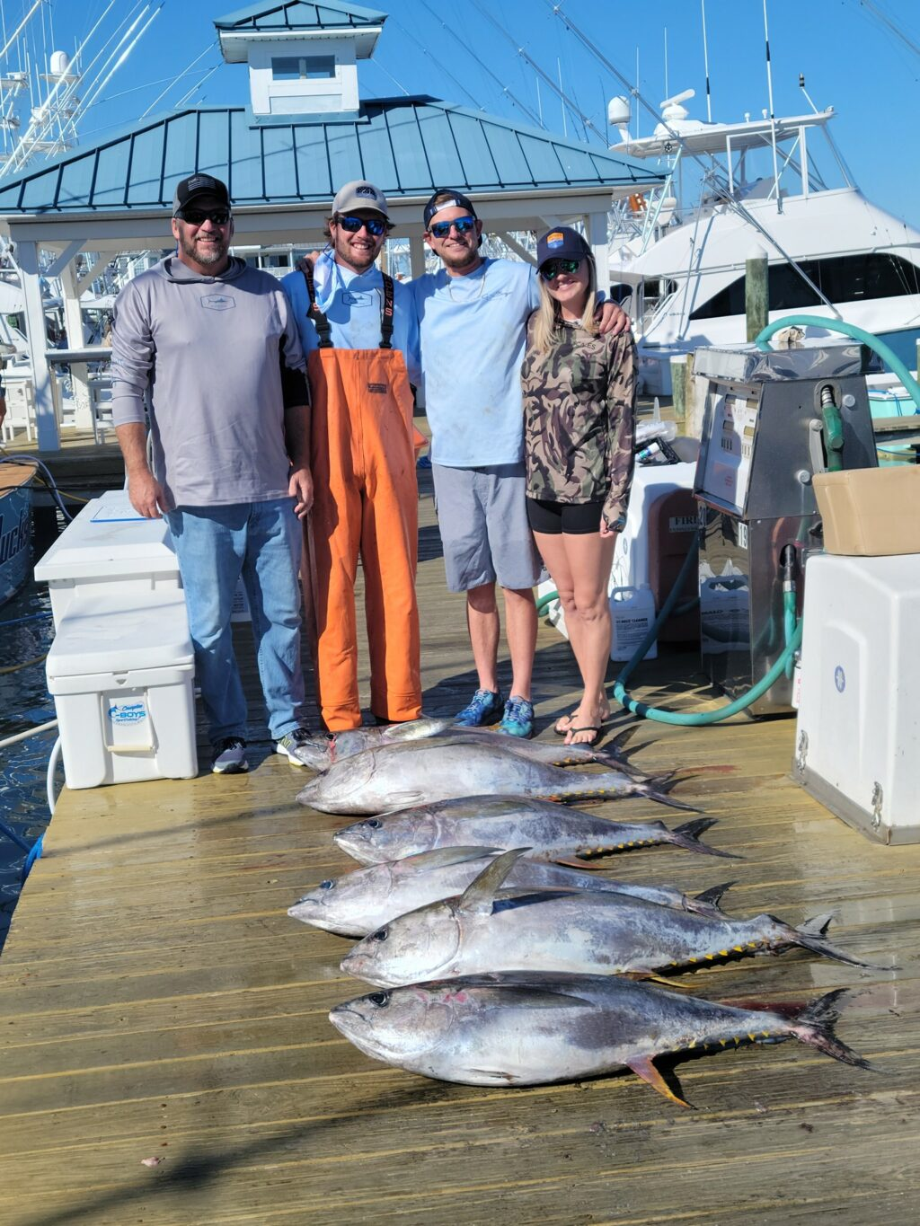 Fun day today with Lance and Brandie. Six nice yellowfins