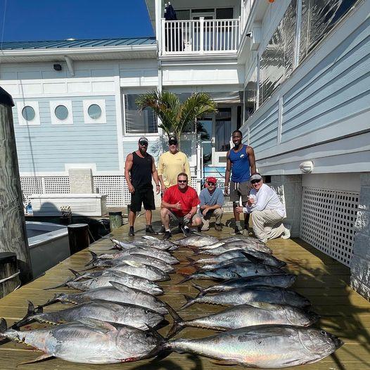 We had a great morning tuna fishing , the tunas